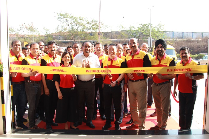 (3rd  from right onwards) R.S. Subramanian - Country Manager of DHL Express India along with Ken Lee – CEO of DHL Express Asia Pacific inaugurating DHL Express' 1st facility in Goa