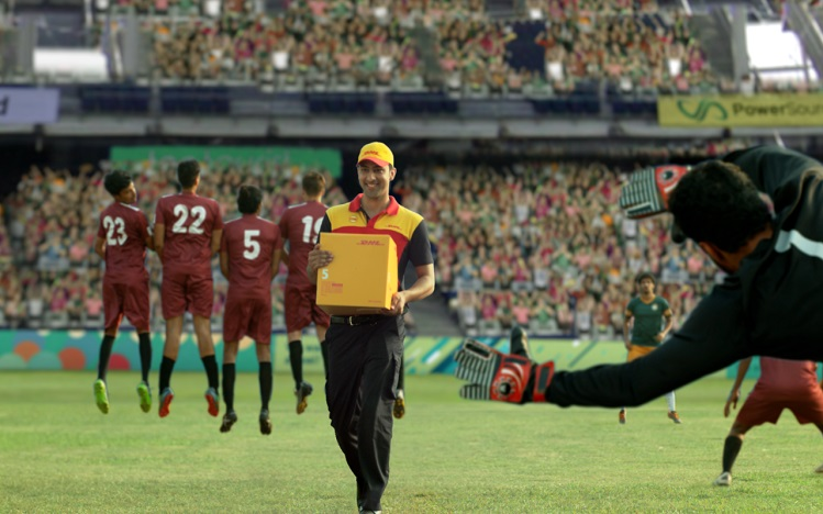 A still from the DHL's latest TVC