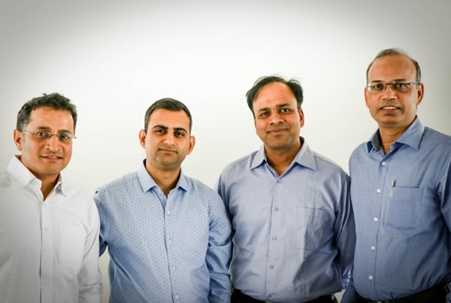 L to R: Vivek Jain (CTO), Akshay Mehrotra (CEO), Ashish Goyal (CFO) & Vimal Saboo (CBO)