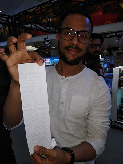 First Customer with INR Bill (Rohan Prakash Shah)