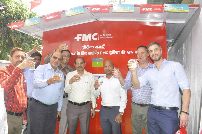 Mr. Pramod Thota, along with Dr. Soraj Singh - Director of Agriculture and Mr. Neeraj Srivastava - Joint Director, Agriculture Technical, Govt. of U.P. inaugurated the plant and commenced the operations