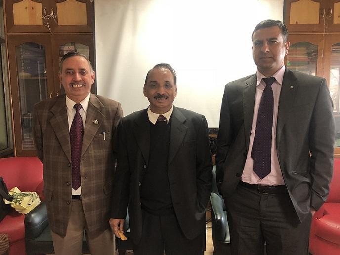 L-R: Dr. Arun Sharma, Dr. V K Kashyap, Dr. Vivek Sahajpal