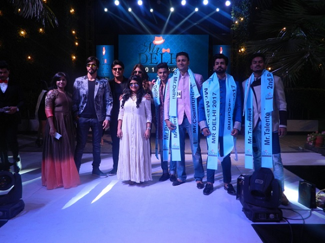 <b>G-Town Society Mr. Delhi 2017 Winner with Bollywood Actor Rajneesh Duggal and Nishee Stephen Director G-Town Society</b>&#8220;></td> </tr> <tr> <td width=