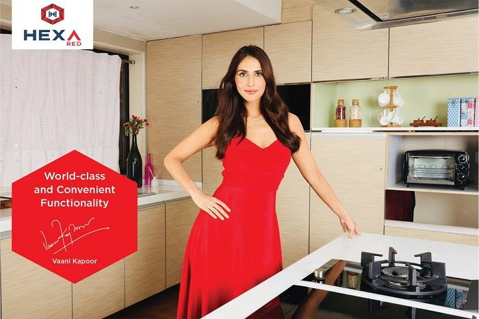 Vaani Kapoor's glamorous look while shooting for Hexa Kitchens