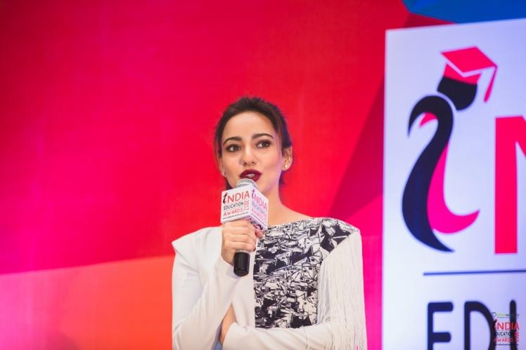 Actress Neha Sharma at India Education Awards - 2017, Taj Hotels, Bangalore