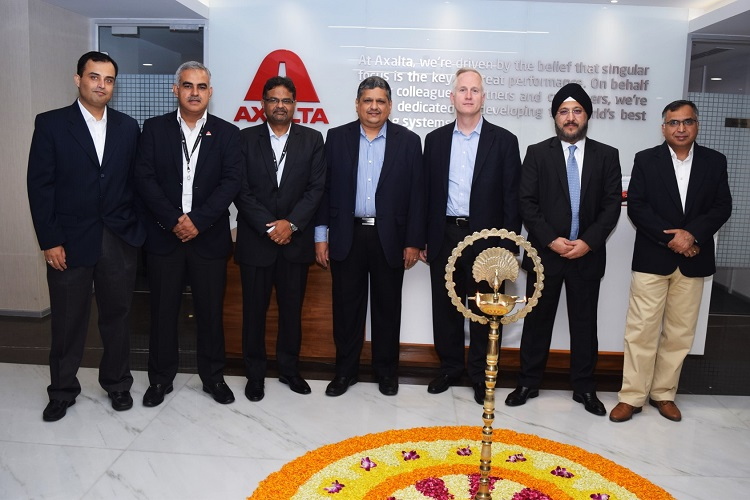 """<b>India Leadership team and Robert Bryant and Sobers Sethi at Office Opening Ceremony</b>""""></p> <tr> <td width="""