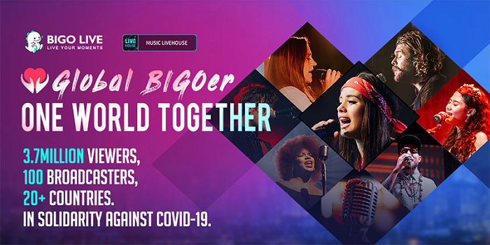 Bigo Live 'Global BIGOer One World Together' Brings Together 3.7 Million People From 150 Countries to Raise Funds for WHO Solidarity Response Fund