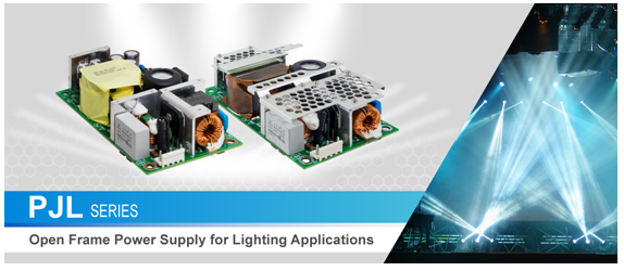 PJL Series - Open Frame Power Supply for Lighting Applications
