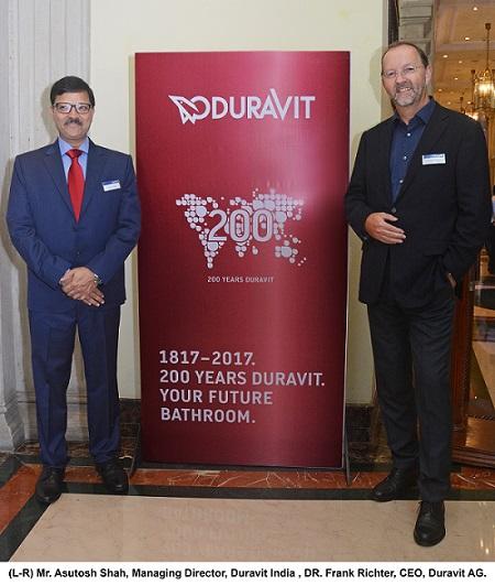(L-R) Mr. Asutosh Shah & Dr. Frank Richter, Duravit