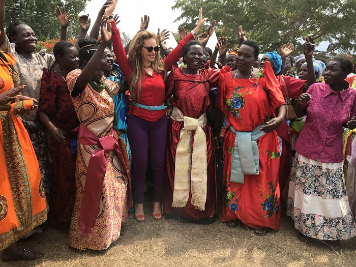 Dr. Rasha Kelej, CEO, Merck Foundation with the heroines of 'Merck More Than a Mother' in Uganda