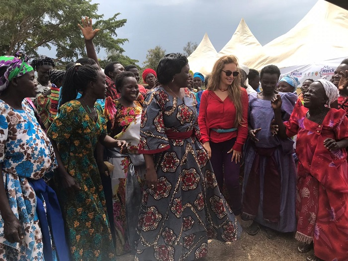 Dr. Rasha Kelej, CEO, Merck Foundation and Hon. Sarah Opendi, Minister of State of Health, Uganda with 'Merck More Than a Mother' Heroines