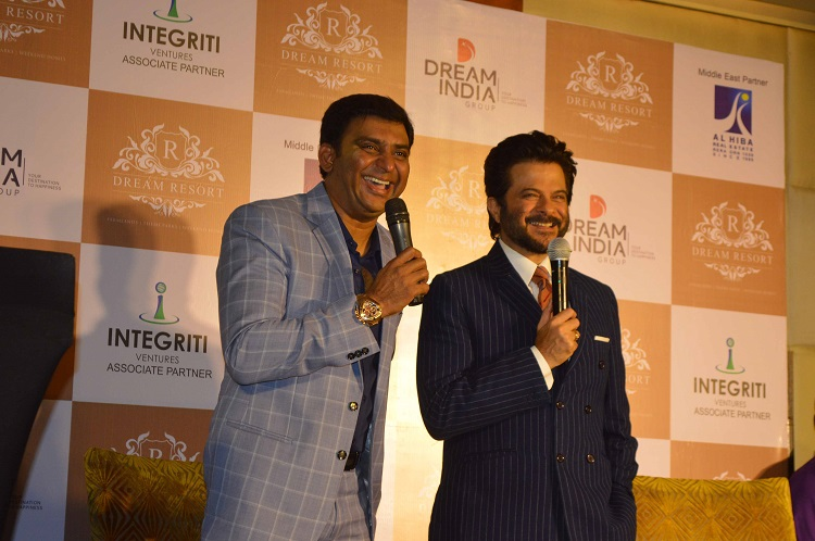 Syed Rafi Ishaq, CMD of Dream India Group and Anil Kapoor at the launch of Dream India Group's latest Resort Project