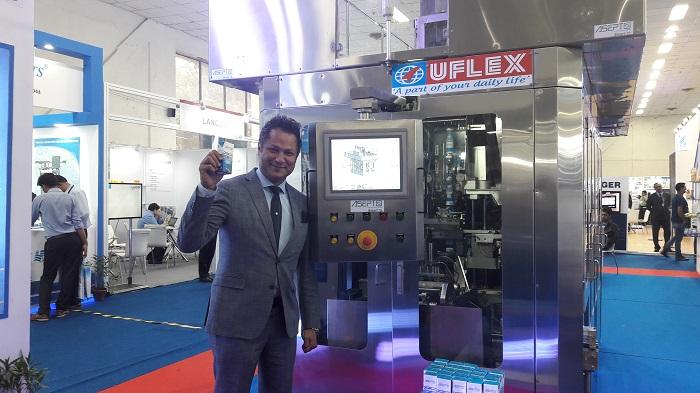Mr. Ashwani Kumar Sharma, President & CEO, New Business Initiative, Uflex, Ltd unveiling ASEPTO Smart 78