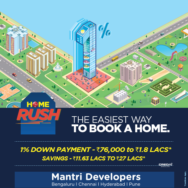 Mantri's Home Rush scheme provides amazing offers for homebuyers