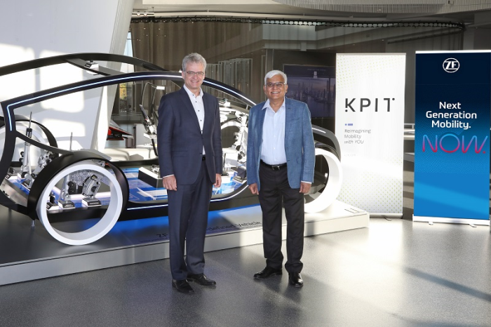 KPIT and ZF will cooperate to develop an industry leading middleware solution for the automotive industry. Pictured: Dr. Dirk Walliser, Head of Corporate R&D at ZF Group and Kishor Patil, CEO at KPIT Technologies