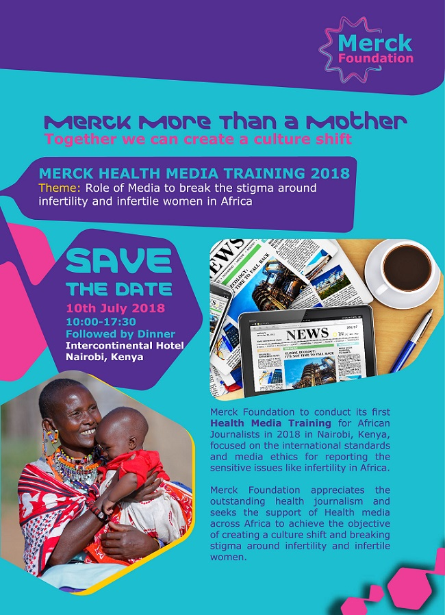 Save the Date for Merck Foundation's Merck Health Media Training 2018
