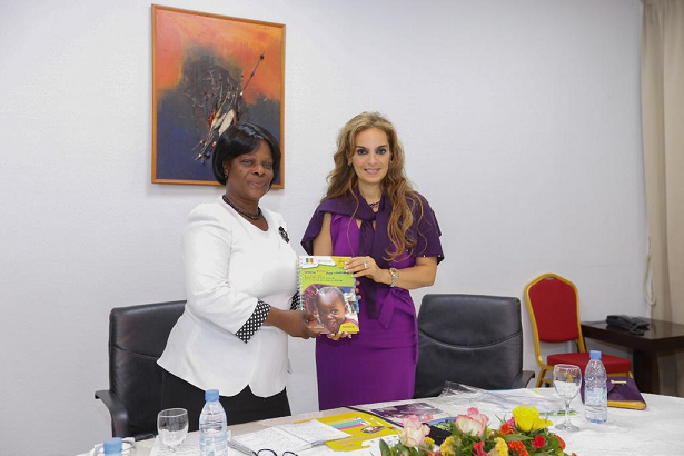 Dr. Rasha Kelej, CEO of Merck Foundation with H.E. ESTHER LUNGU, the First Lady of Zambia during the meeting to discuss the selection of the right candidates for the one year online diabetes diploma