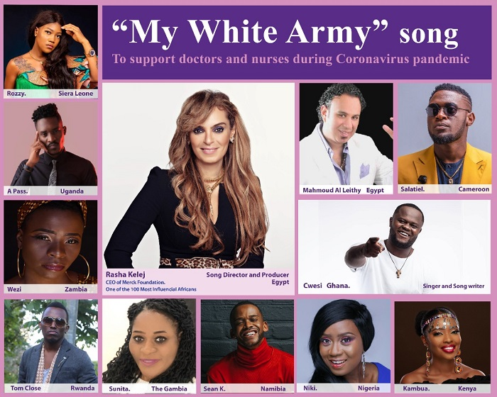 'My White Army' by Rasha Kelej, 11 Singers, 11 Countries, to support Coronavirus Medical Staff