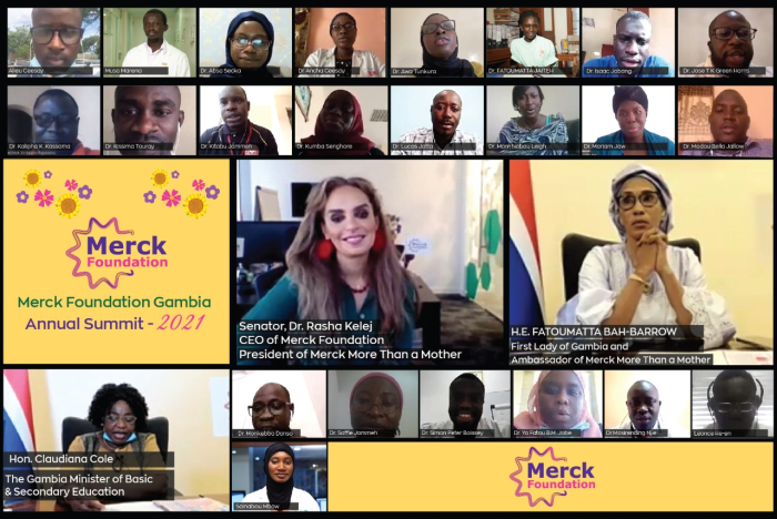 Merck Foundation CEO and The Gambia First Lady at the Merck Foundation -The Gambia Annual Summit 2021
