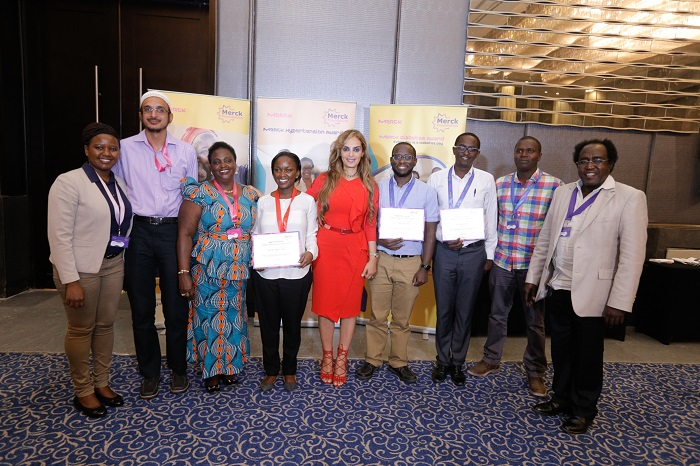 Dr. Rasha Kelej, CEO of Merck Foundation with Merck Hypertension Awards Winners