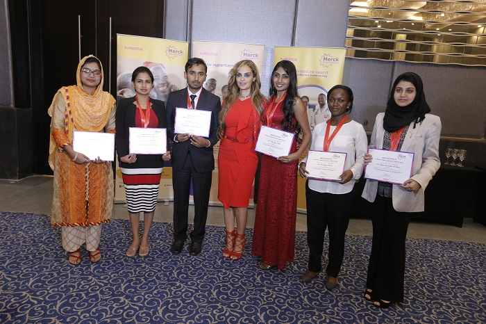 Dr. Rasha Kelej, CEO of Merck Foundation acknowledge some of Merck Foundation Alumni, future Diabetes and Hypertension experts in Africa and Asia