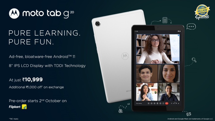Motorola Disrupts the Tablet Market in India With the Launch of Moto Tab g20