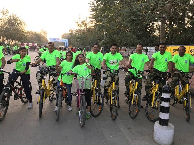 Indore Cyclothon ofo bikes
