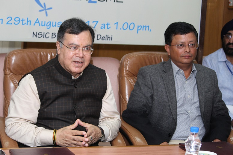 Mr. Ravindra Nath, Chairman cum MD, NSIC and Mr. R. Narayan, Founder and CEO, Power2SME