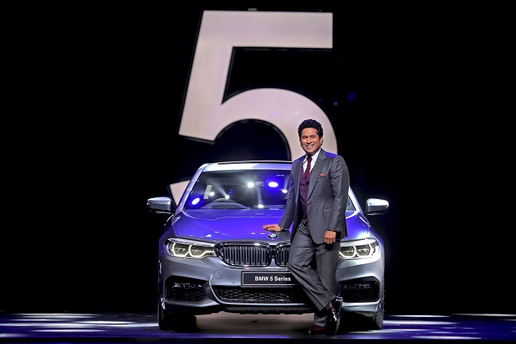 Mr. Sachin Tendulkar with the all-new BMW 5 Series