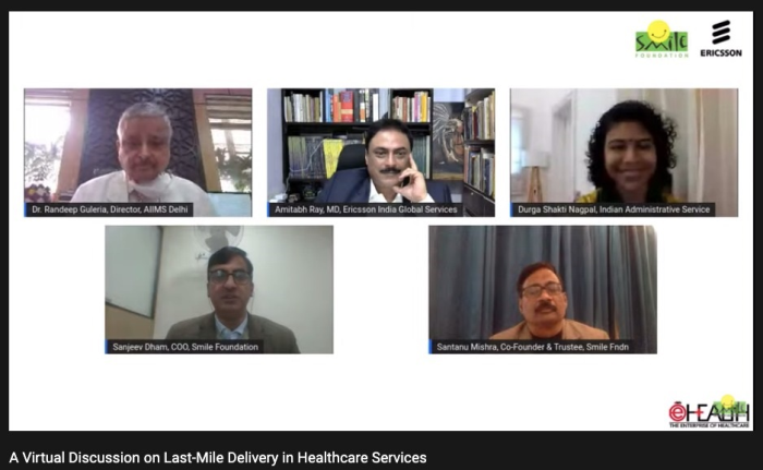 A virtual round table was held to discuss the need for effective healthcare ecosystem. Smile foundation has been associated with Ericsson for the past five years and aims to support India's healthcare system.