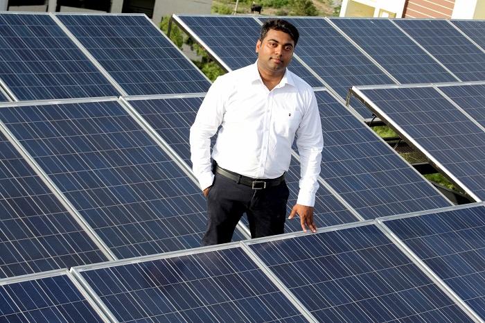 Chaitanya Rayapudi of Supra Builders, the solar dreamer