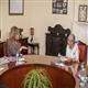 Dr. Rasha Kelej, CEO of Merck Foundation and President, Merck More Than a Mother during the meeting with The First Lady of Kenya, H.E. MADAM MARGARET KENYATTA at the State House, Nairobi, Kenya