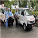 (L) Mr Rajiv Thadani and (R) Mr Hemant Bhasin (Trustees, Support Group for COVID Warriors in Goa) handing over the ambulances to Mr Ajeet Roy (DC/DM, North Goa)