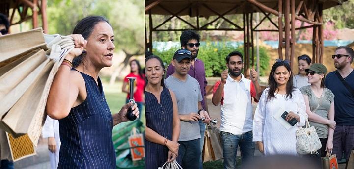 <b>H E Melba Pria with H E Nadir Patel inaugrating the Tuk-Tuk Rally </b>