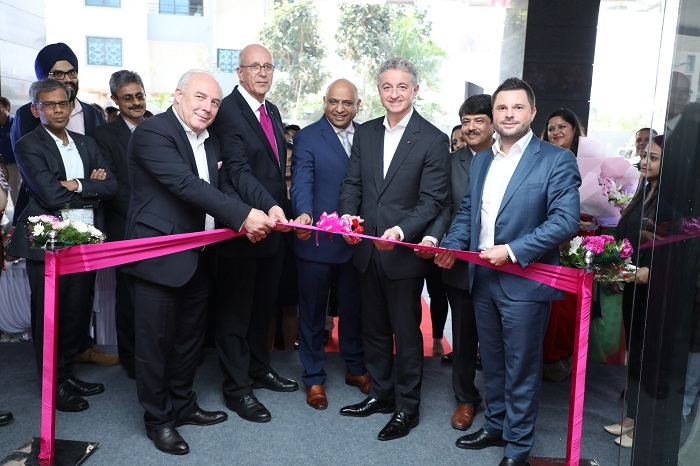 Inauguration of T-Systems? new facility in Balewadi, Pune, in the presence of Laszlo Posset, Managing Director, T-Systems ICT India Pvt. Ltd.,; Dr. Jürgen Morhard, Consul General of the Federal Republic of Germany in Mumbai; Adel Al-Saleh, CEO, T-Systems International; and Marco Dubanowski, Senior Vice President - Global Point of Production Network, T-Systems International GmbH