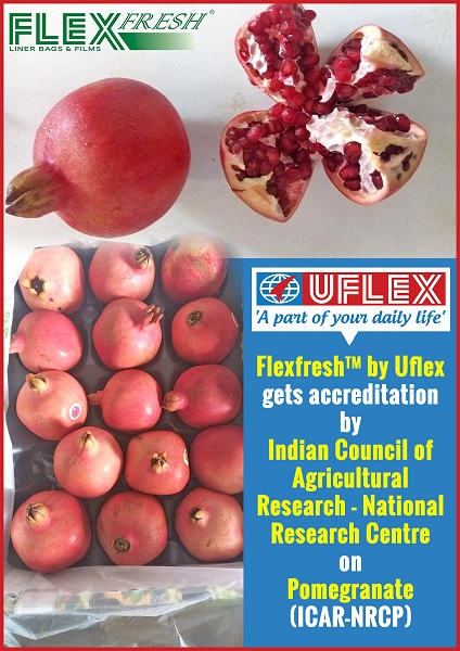 Flexfresh liner bag by Uflex gets accreditation for Pomegranates