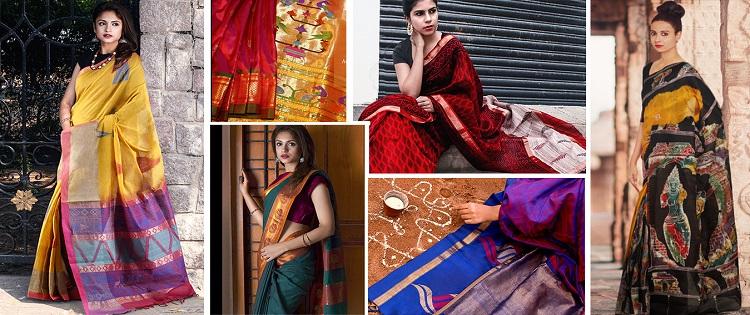 6 Stunning Handloom Saree Looks for Dusshera and Durga Puja