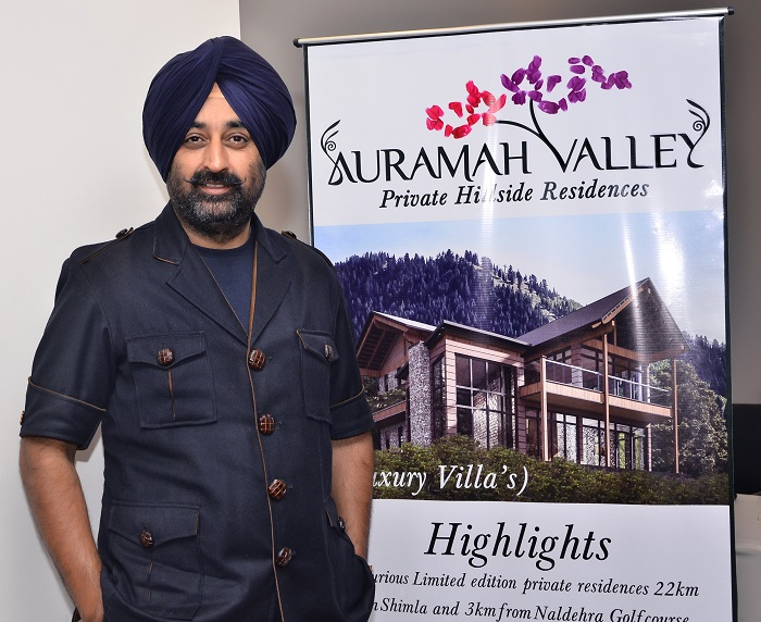 <b>Mr. Manav Singh, Chairman Imperial Reality and Developments, launching Phase 2 of Auramah Valley, an ultra luxury residential project near Naldehra Golf Course, Shimla. A rare opportunity for Non-Himachalis to own free hold property in Himachal</b>&#8220;></td> </tr> <tr> <td width=