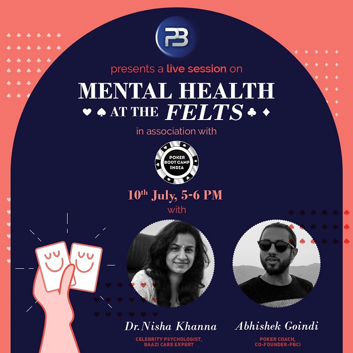 PokerBaazi in association with PBCI is organising industry's first live session with a celebrity psychologist and a poker coach to talk about the mental health challenges of the game